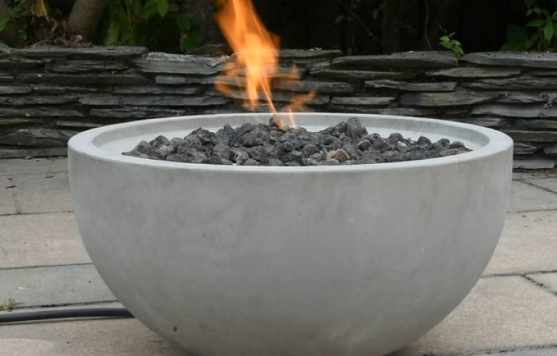 Nantucket gas fire pit