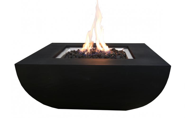 Aurora black fire pit