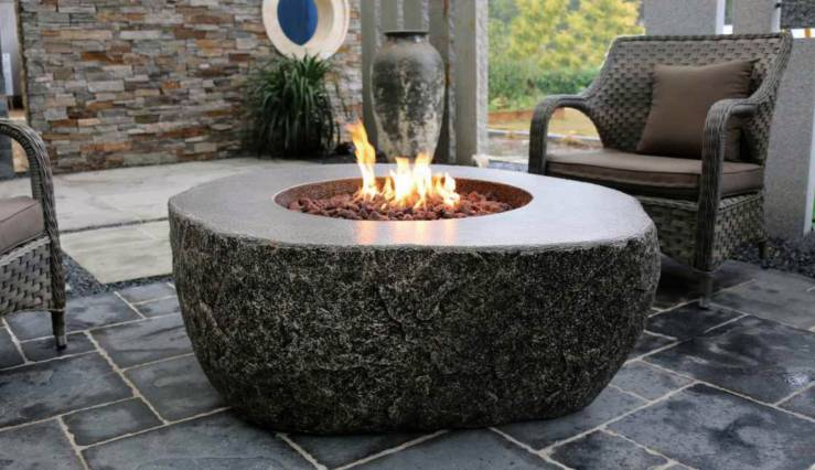 OFG147 Fiery Rock fire table